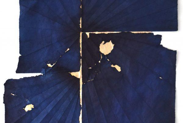 #0019Keeping Together, Justine Johnson, indigo, moon gold, 2021
