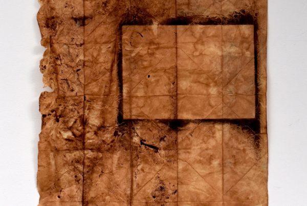 Ember, Justine Johnson #3,H24.5 x W14.5, Apple bark dye, natural handmade earth pigments on washi, 2020 #2