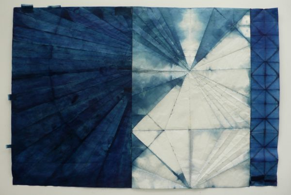 Johnson Justine , Mapping Experience, Indigo on Japanese paper, 2017, 54x36,