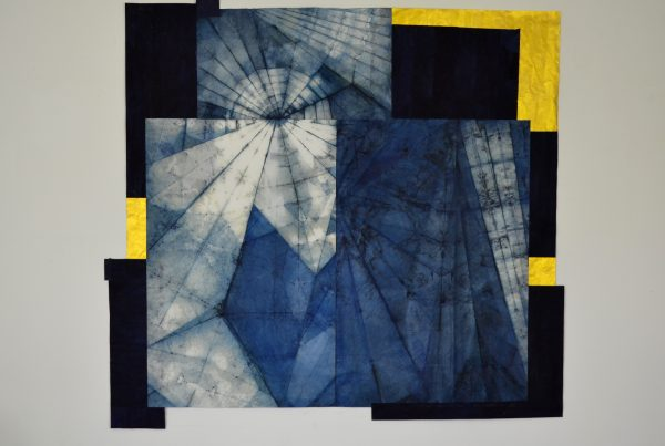 Indigo., Pigment on Washi , 144cmx110cm